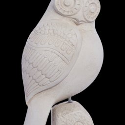 Owl plaster statue, the symbol of wisdom (No.2) 1