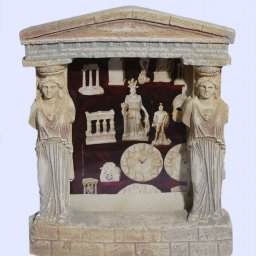 Greek plaster picture frame with Caryatids (Karyatides) and pediment 1