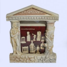 Greek picture frame with Apollo the god of music and poetry  1