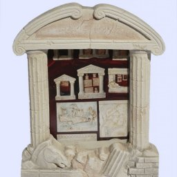 Greek plaster picture frame with Doric columns 1