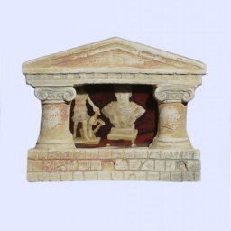 Greek picture frame with Ionic columns and pediment 1