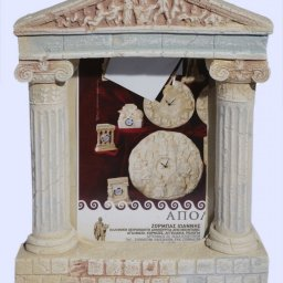 Greek picture frame with Ionic columns and pediment of Parthenon 1