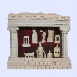 Greek picture frame with Ionic columns 1