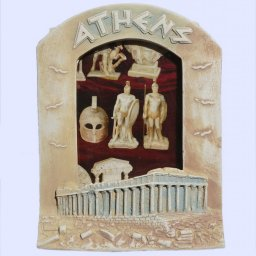 Medium Greek picture frame with Parthenon Athens 1