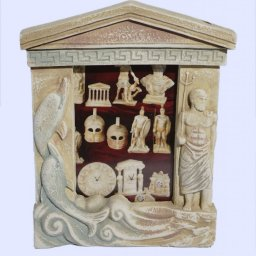 Greek picture frame with the god Poseidon and dolphins 1