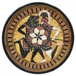 Greek ceramic plate depicting Hercules and Amazon 1