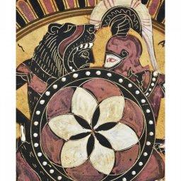 Greek ceramic plate depicting Hercules and Amazon 3