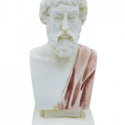 Plato greek alabaster bust statue with color 1