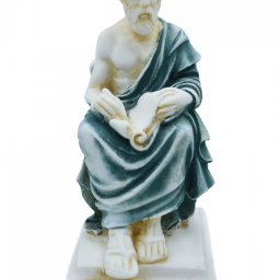 Plato greek alabaster statue with color 1