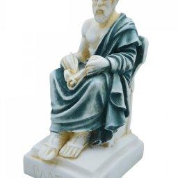 Plato greek alabaster statue with color 2