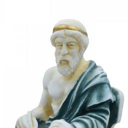 Plato greek alabaster statue with color 3