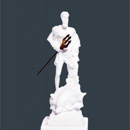 Poseidon greek alabaster statue 1