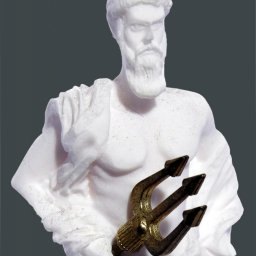 Poseidon greek alabaster statue 3