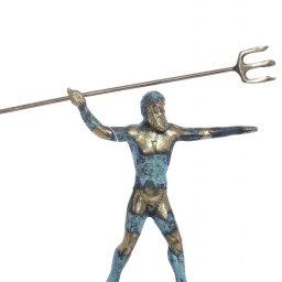 Small bronze statue of Poseidon holding his Trident 1