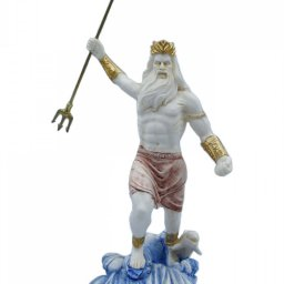 Greek alabaster statue of Poseidon with his trident 1