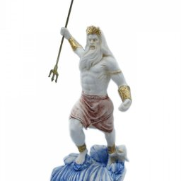 Greek alabaster statue of Poseidon with his trident 2