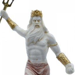 Greek alabaster statue of Poseidon with his trident 4
