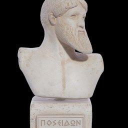 Poseidon greek plaster bust statue 1