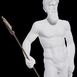 POSEIDON THE GREEK GOD OF THE SEA ALABASTER STATUE 4