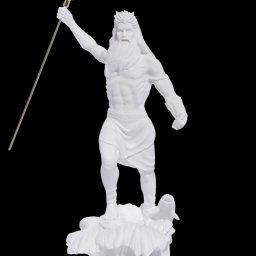 Poseidon with trident greek alabaster statue 1