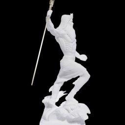 Poseidon with trident greek alabaster statue 2