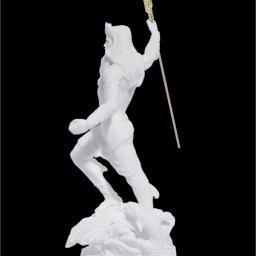 Poseidon with trident greek alabaster statue 3