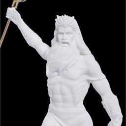 Poseidon with trident greek alabaster statue 4