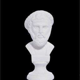 Pythagoras alabaster bust statue 1
