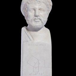 Pythagoras greek plaster bust status 1