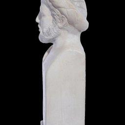 Pythagoras greek plaster bust status 2
