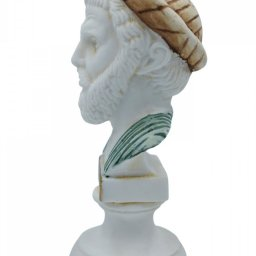 Pythagoras alabaster bust statue with color 3