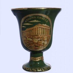 Pythagoras porcelain cup with Acropolis 24Kt gold 1