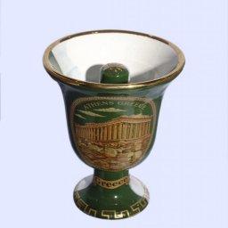 Pythagoras porcelain cup with Acropolis 24Kt gold 2