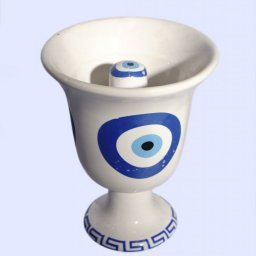 Pythagoras porcelain cup with Evil Eye 2
