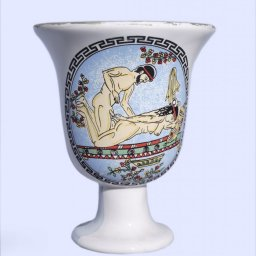Pythagoras porcelain cup with an erotic scene 1