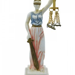 Themis, the greek goddess of justice, small alabaster statue 1