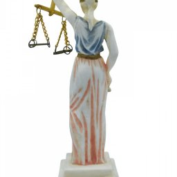 Themis, the greek goddess of justice, small alabaster statue 3