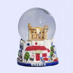 Small Parthenon Snowglobe - Base of traditional greek houses 1