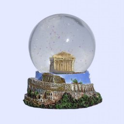 Parthenon Snowglobe - Acropolis, base decorated with relief of Acropolis 1