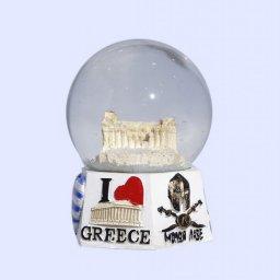 Parthenon Acropolis Snowglobe - Polygonal base with iconic greek elements  1