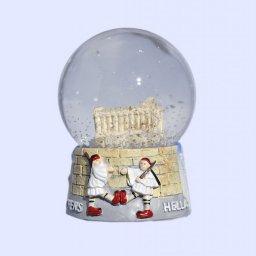 Parthenon Acropolis Snowglobe - Base with iconic greek elements  1