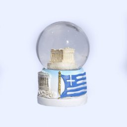 Small Parthenon Acropolis Snowglobe - Base with iconic greek elements  1