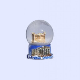 Small Parthenon Acropolis Snowglobe - Base decorated with relief of Acropolis 1