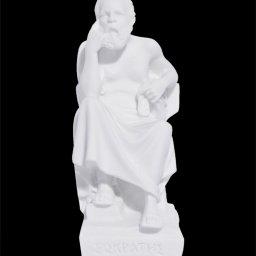 Socrates greek alabaster statue 1