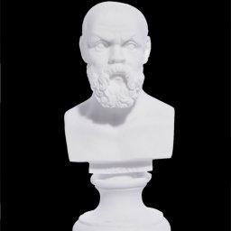 Socrates greek alabaster bust statue 1