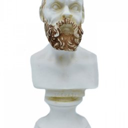 Socrates greek alabaster bust statue with color 1