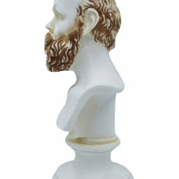 Socrates greek alabaster bust statue with color 3