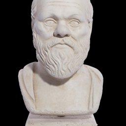 Socrates greek plaster bust statue 1