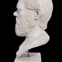 Socrates greek plaster bust statue 2