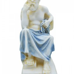 Socrates greek alabaster statue with color 1